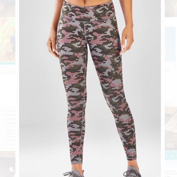 395e254368a25d Fabletics Pants | Salar Powerhold Legging Yoga Camo | Poshmark